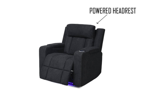 Imperial Electric Fabric Recliner with Cupholder and Power Headrest