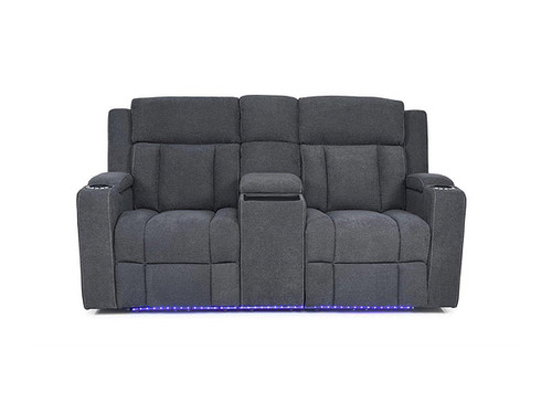 Imperial 2 Seater Electric Recliner with Centre Console Dark Grey