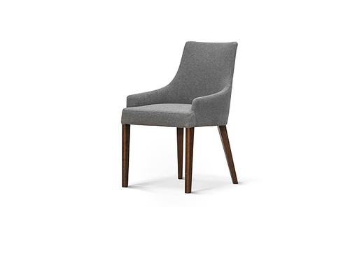 Roma Dining Chair in Grey Fabric