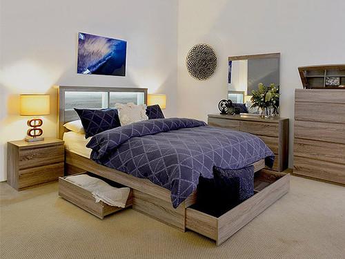 Bali Double Bedroom Mocha Oak
