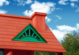 Dormer and chimney feature of Nantucket II from Gorilla Playsets