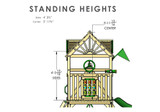 Standard Height view of Nantucket II Swing Set Playset from Gorilla Playsets