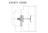 Safety Zone view of Nantucket II Swing Set Playset from Gorilla Playsets