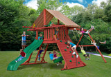 Outdoor shot of Sun Climber Extreme Swing Set from Gorilla Playsets