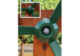 Close up view of steering wheel cap with four spokes from Gorilla Playsets.
