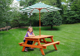 Lifestyle image of children's picnic table by Gorilla Playsets.