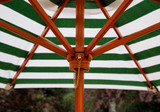 Close-up image of children's picnic table umbrella by Gorilla Playsets.