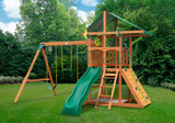 Outdoor shot of Outing IV Playset from Gorilla Playsets