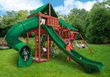Outdoor shot  of Sun Valley Deluxe Playset from Gorilla Playsets
