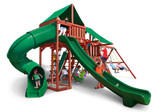 Studio shot  of Sun Valley Deluxe Playset from Gorilla Playsets