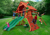 Outdoor shot of Sun Palace Extreme Playset from Gorilla Playsets
