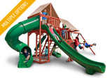 Studio shot  of Sun Climber Deluxe Playset from Gorilla Playsets
