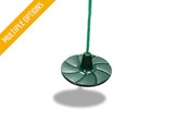 Studio view Green Disc Swing from Gorilla Playsets.
