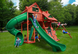 Outdoor shot  of Sun Palace Deluxe Playset from Gorilla Playsets