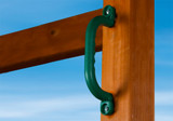 Outdoor view of Green Safety Handles from Gorilla Playsets