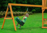 Lifestyle shot of Tire Swing Add-On from Gorilla Playsets.