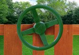 Now your kids can take a spin with the Steering Wheel on the Wilderness Retreat.