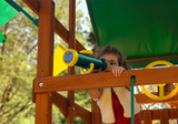 There is so much to see with the Telescope w/ Compass  from Gorilla Playsets.