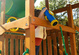 Your kids will never have to stop exploring with the Telescope w/ Compass  from Gorilla Playsets.