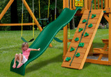 Lifestyle view of Wiki Wave Slide II Slide from Gorilla Playsets.