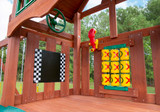 Close up view of Chalk Board and Tic-Tac-Toe Board on the Adventure Wave from Gorilla Playsets