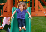 Girl on Alpine Wave Slide from Gorilla Playsets