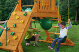 Rock Climbing Wall, Punching Ball and Swing Belt from Gorilla Playsets