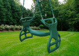 Outdoor shot of Double Glider Swing from Gorilla Playsets.