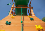 Extreme shot of Outing IV Playset w/ Dual Slide and Rock Wall from Gorilla Playsets