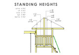 Tarp Roof Standing Heights View of Outing IV w/ Trapeze Bar Playset from Gorilla Playsets