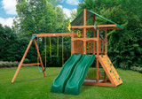 Outdoor shot of Outing IV w/ Dual Slide Playset from Gorilla Playsets