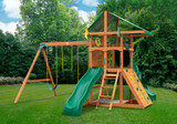 Outdoor shot of Outing IV w/ Tube Slide Playset from Gorilla Playsets