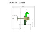 Overhead Safety Zone View of Outing IV w/ Tube Slide Playset from Gorilla Playsets