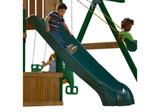 Studio set shot of Green Super Summit Slide from Gorilla Playsets