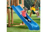 Lifestyle shot of Blue Summit Slide from Gorilla Playsets