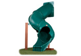 Studio shot of Tunnel Twister Tube Slide from Gorilla Playsets