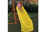Lifestyle shot of Yellow Super Speedway Slide from Gorilla Playsets