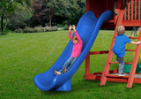 Lifestyle shot of Blue Super Scoop Slide from Gorilla Playsets