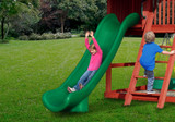 Lifestyle shot of Green Super Scoop Slide from Gorilla Playsets