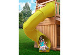 Lifestyle shot of Green Super Tube Slide from Gorilla Playsets