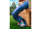 Lifestyle shot of Blue Super Tube Slide from Gorilla Playsets