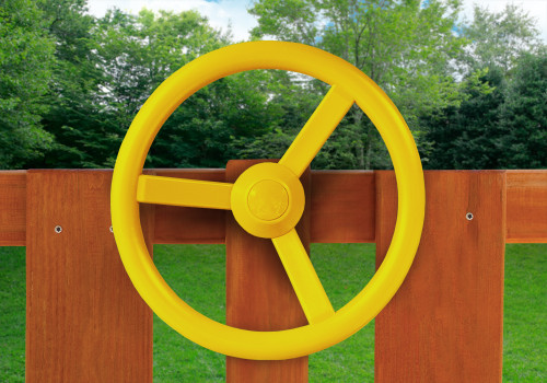 Lifestyle view of steering wheel from Gorilla Playsets.