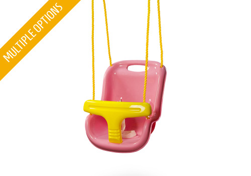 Studio shot of Gorilla Playsets outdoor baby swings.