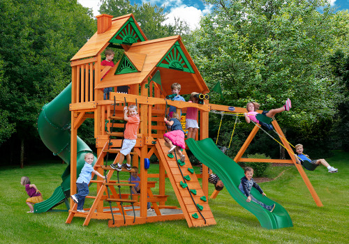 Outdoor shot of Great Skye I Playset from Gorilla Playsets