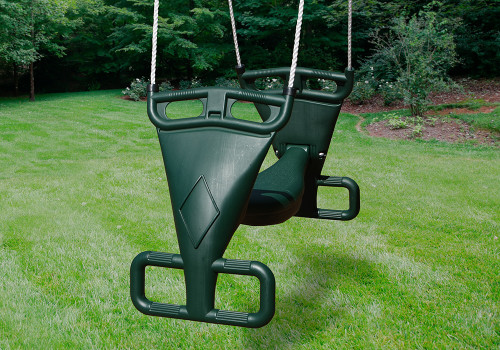 Outdoor shot of Tandem Swing from Gorilla Playsets.