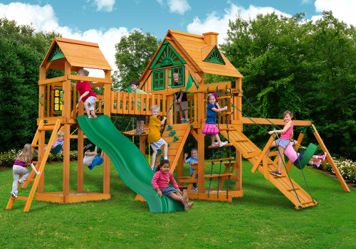 Outdoor shot  of Pioneer Peak Playset from Gorilla Playsets