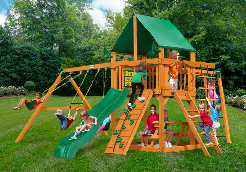 Outdoor shot of Navigator Playset from Gorilla Playsets