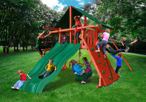 Outdoor shot  of Sun Climber Extreme Playset from Gorilla Playsets