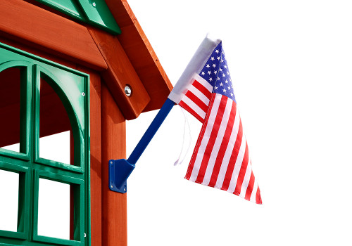 Alternate studio view of American Flag by Gorilla Swing Sets.