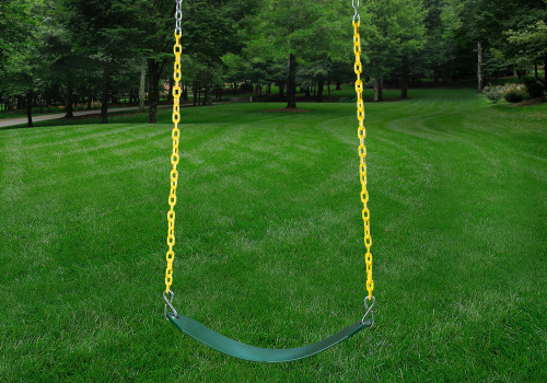 Green Swing Belt with Yellow Chains